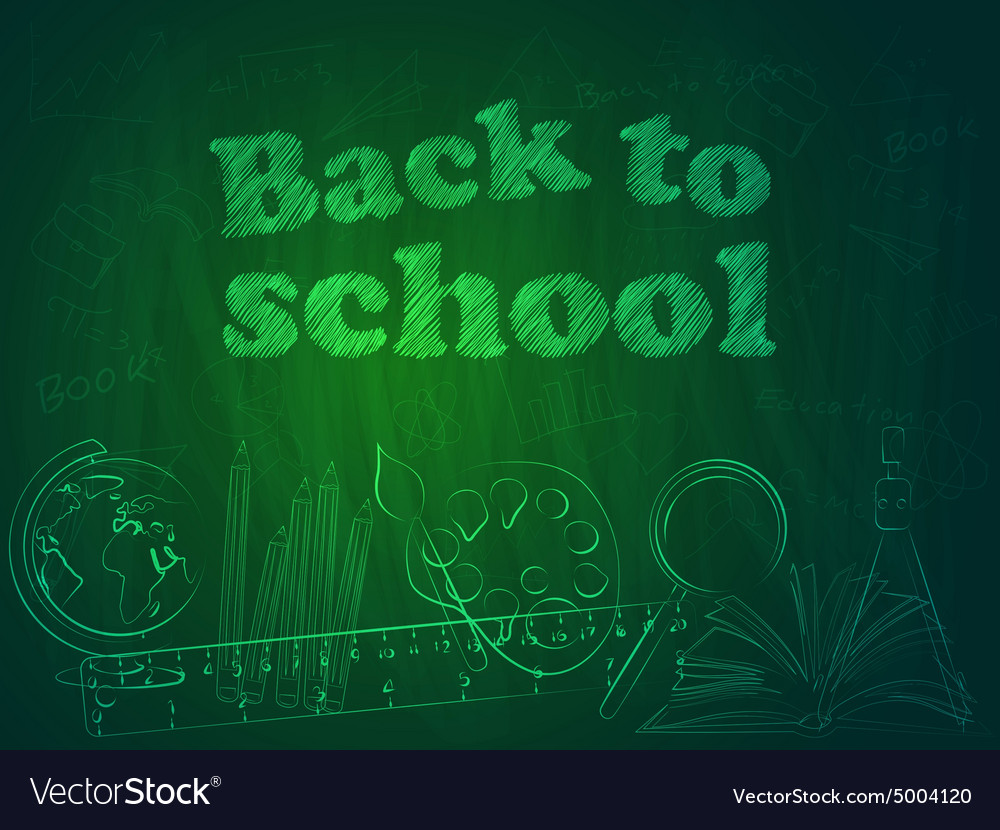 Back to school3 vector image