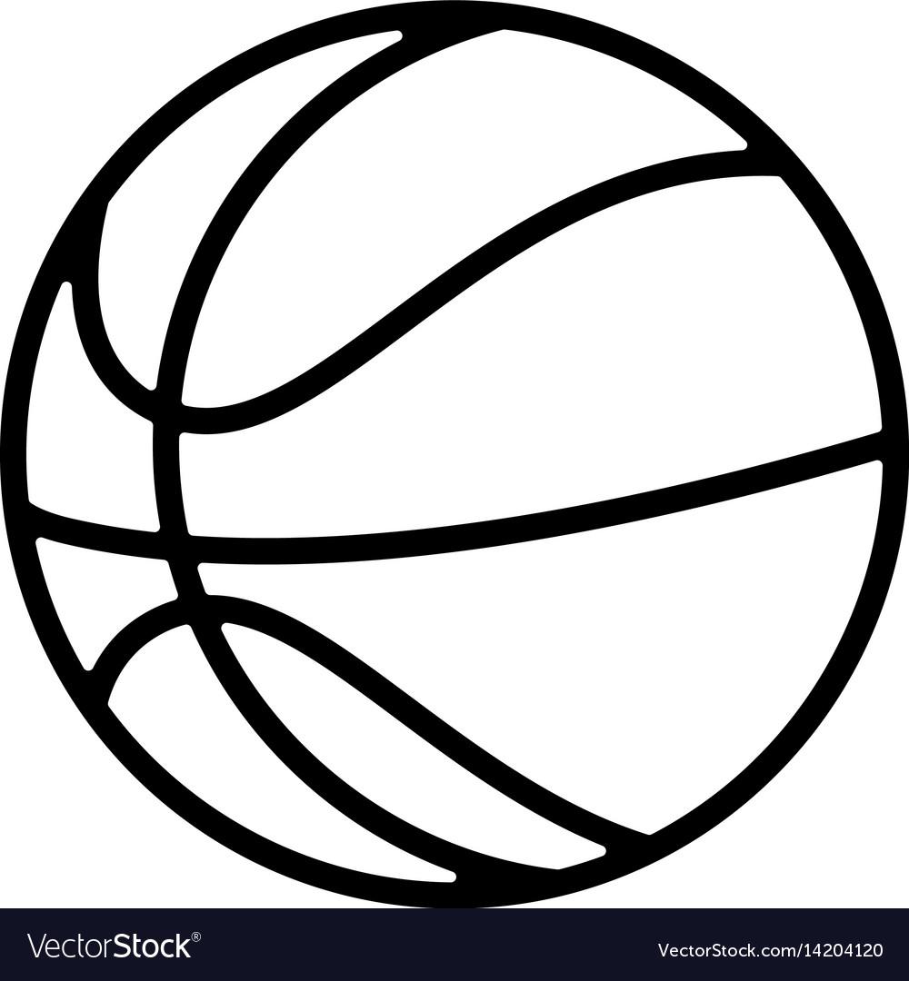 Basketball balloon isolated icon