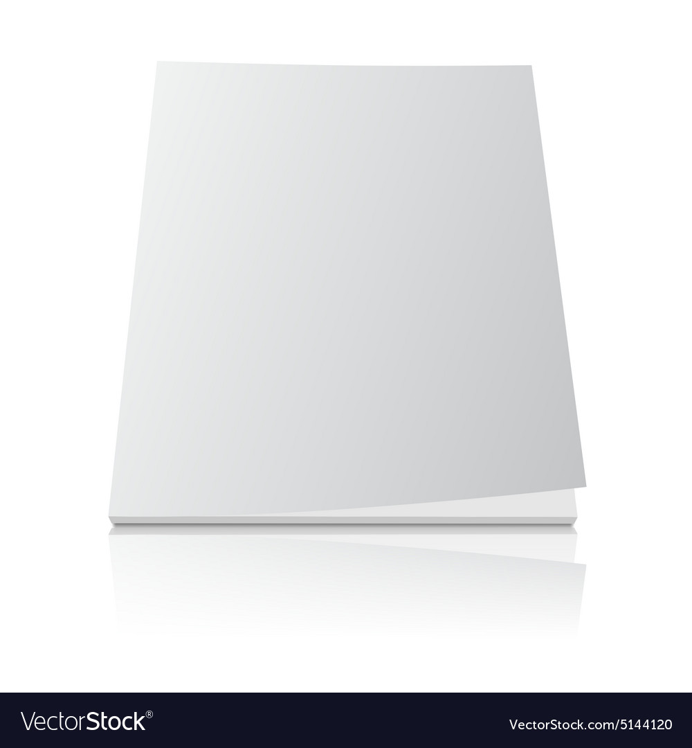 Blank Magazine Template Cover On White Royalty Free Vector