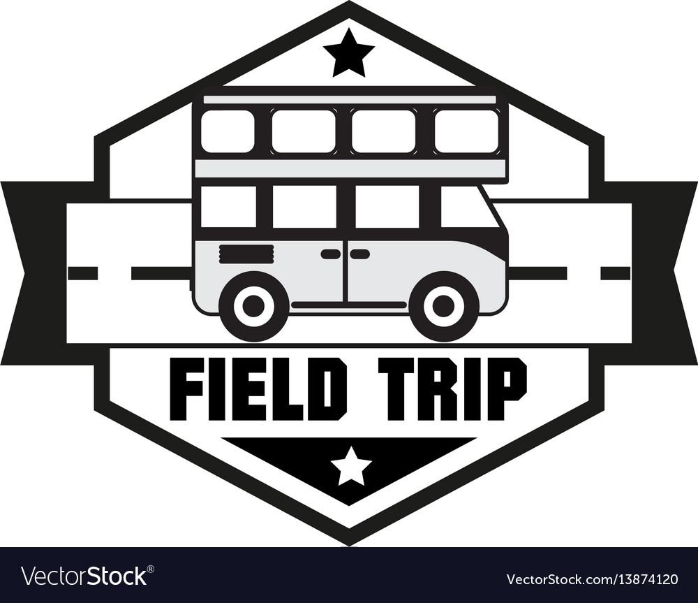 Bus trip and travel tour badge logo