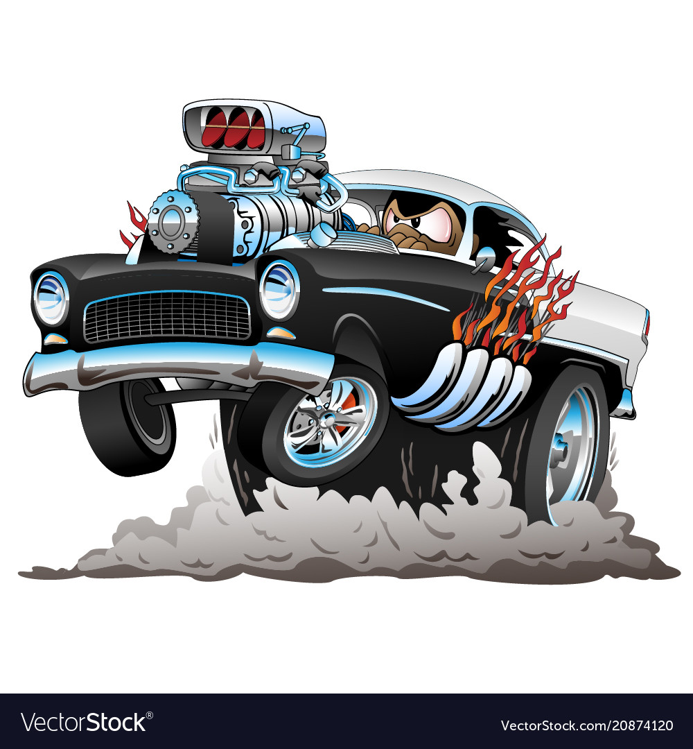 Classic american fifties style hot rod funny car