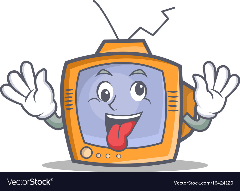 Crazy tv character cartoon object