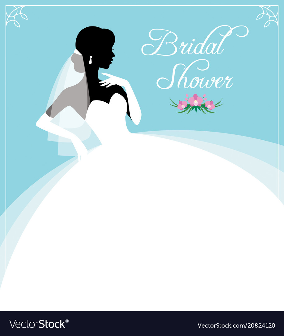 flyer or invitation for a bridal shower royalty free vector