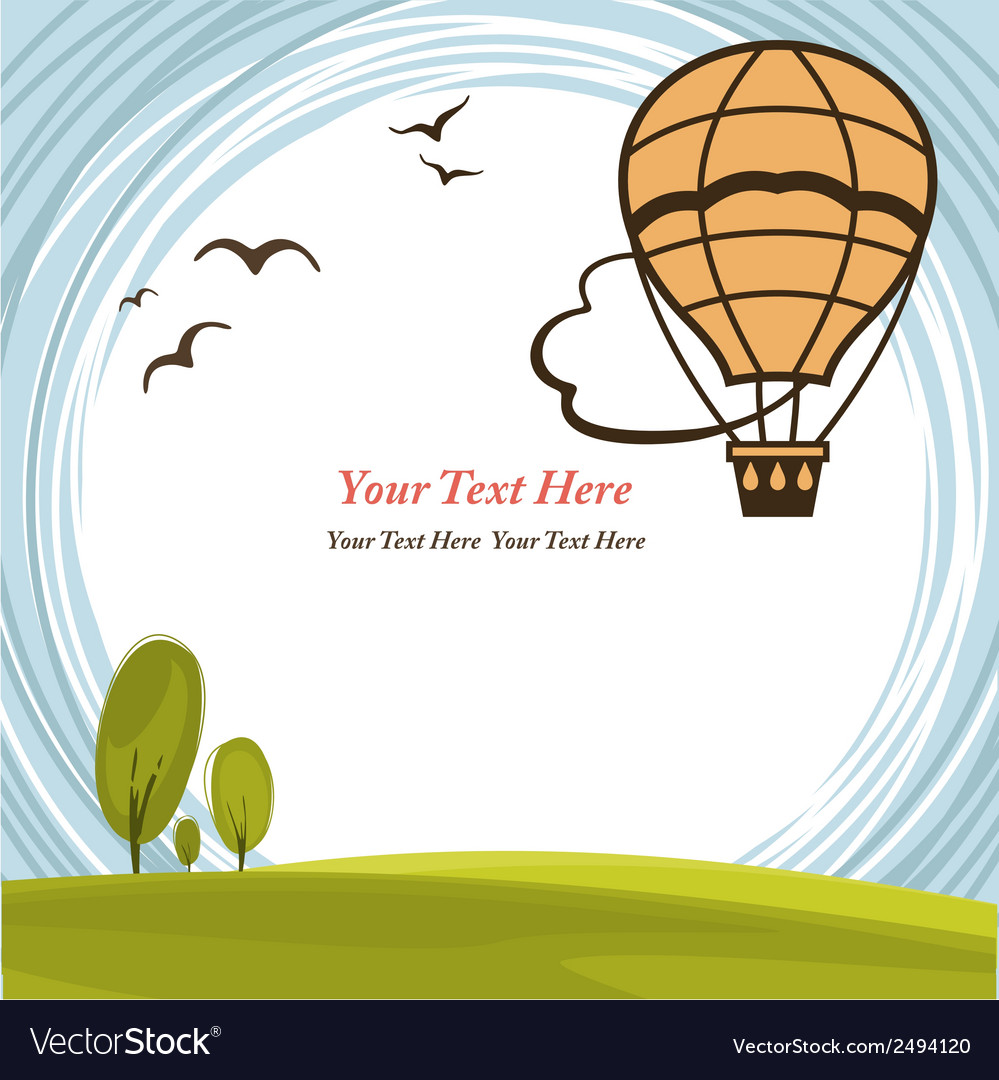 Frame With Hot Air Balloon Royalty Free Vector Image