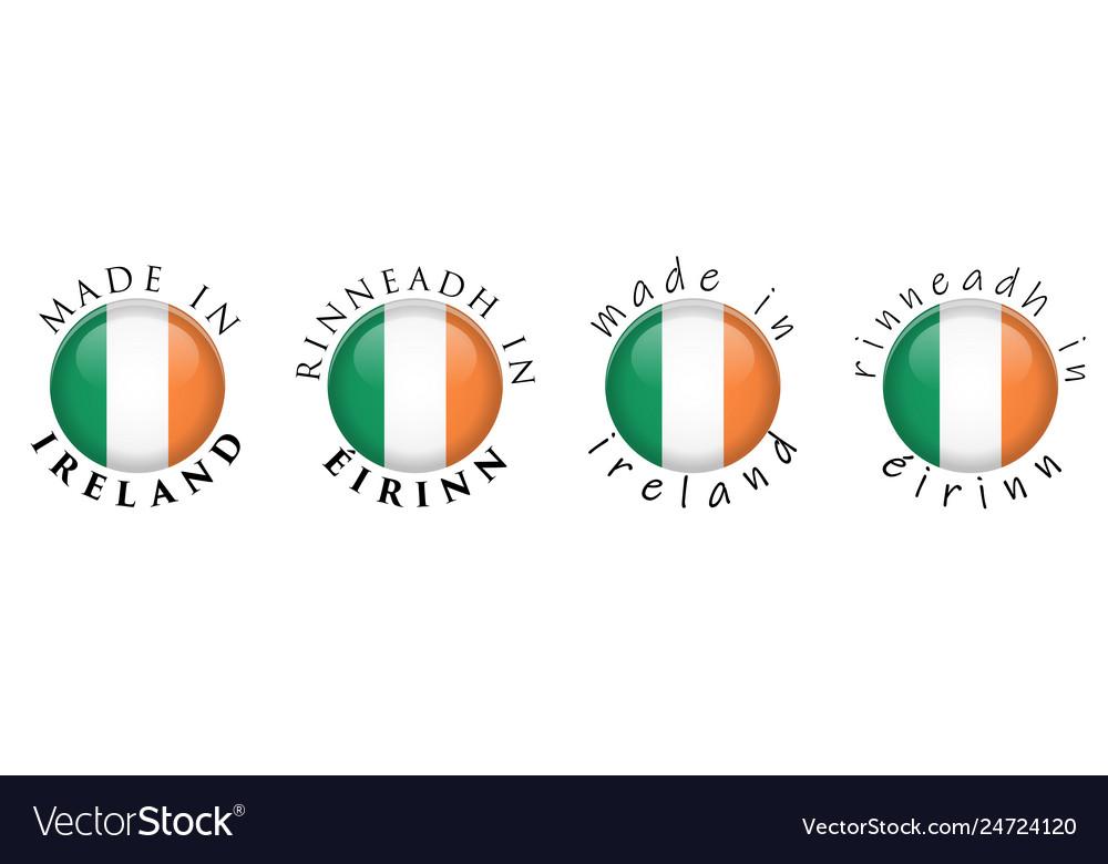 Simple made in ireland rinneadh in eirinn irish