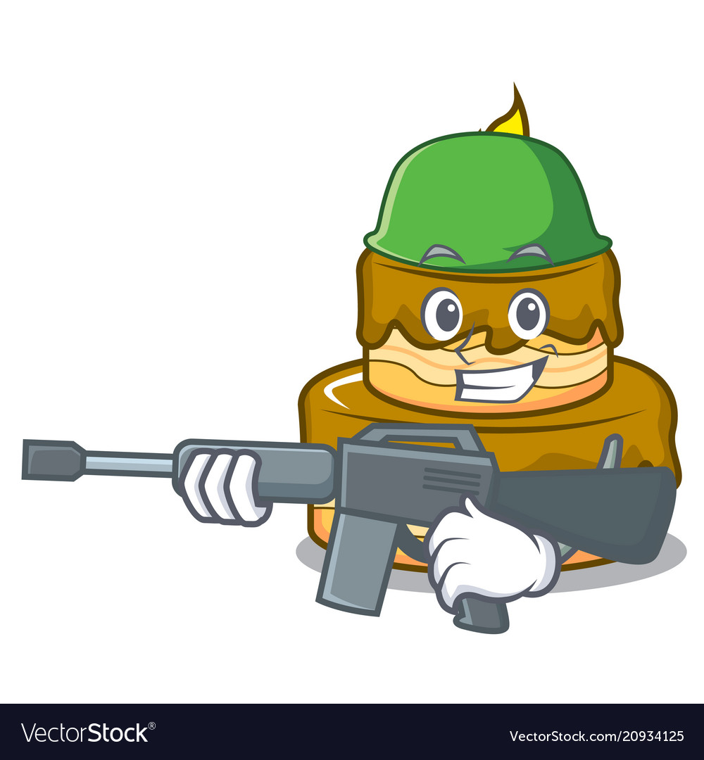 Miraculous Army Birthday Cake Character Cartoon Royalty Free Vector Funny Birthday Cards Online Alyptdamsfinfo
