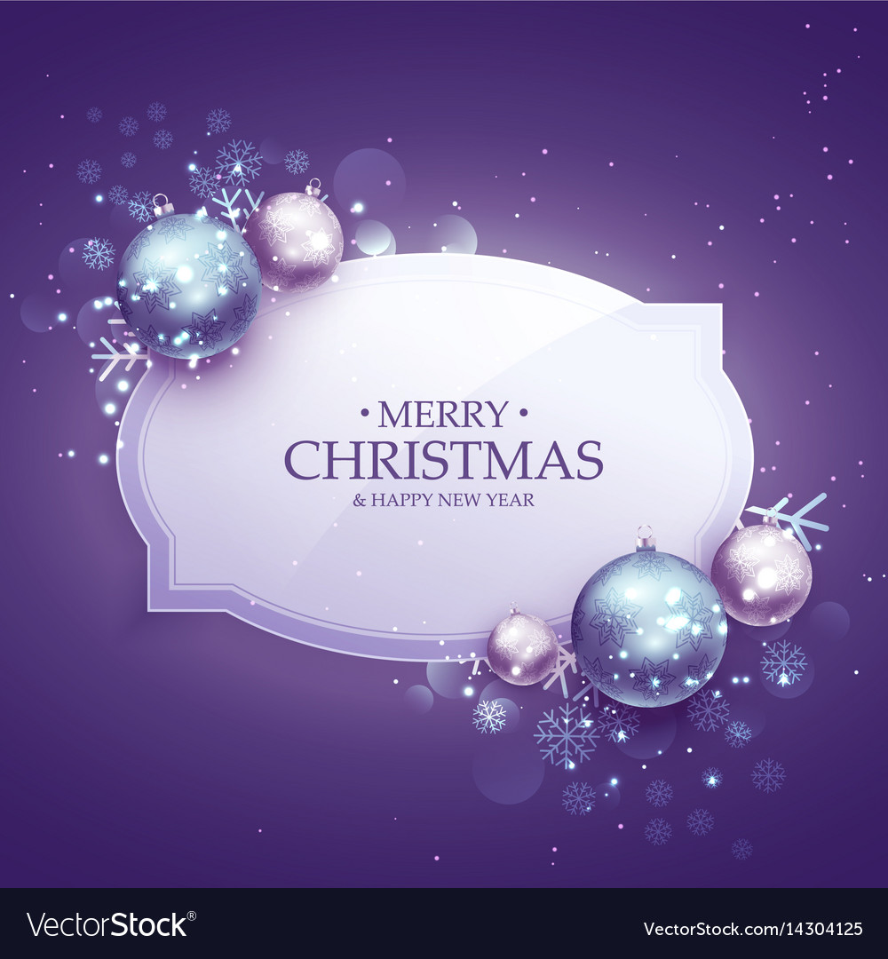 Beautiful merry christmas decoration background Vector Image