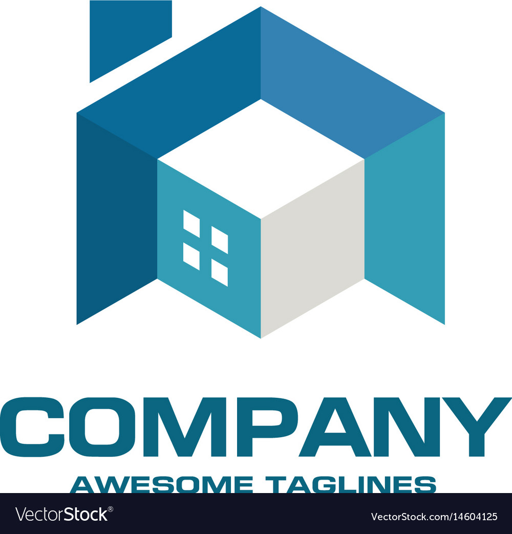 Building house and interior 3d style logo