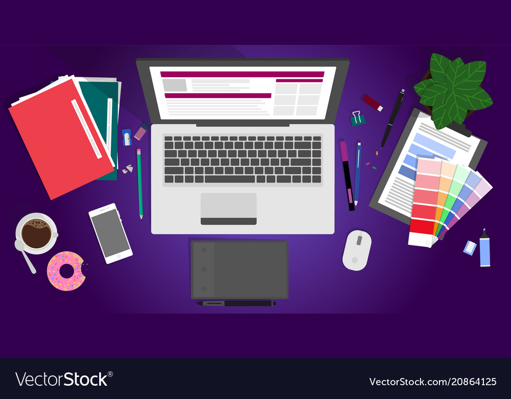 Flat design of modern creative vector image