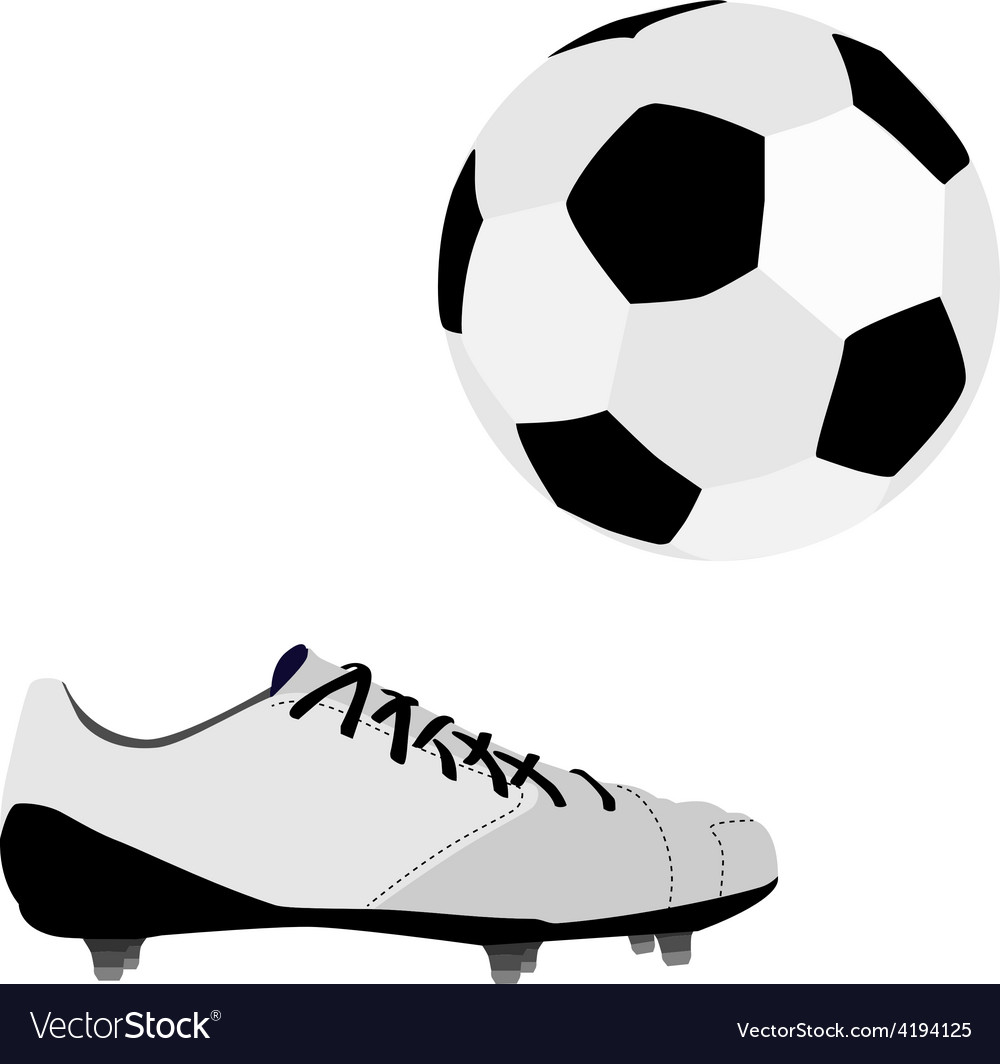 Football ball and shoe