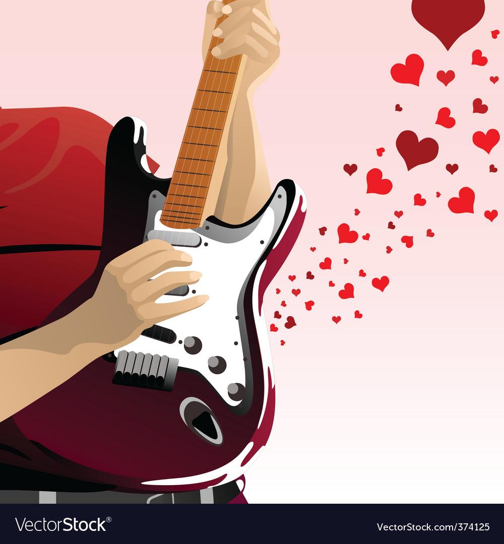 Картинка гитара и сердце