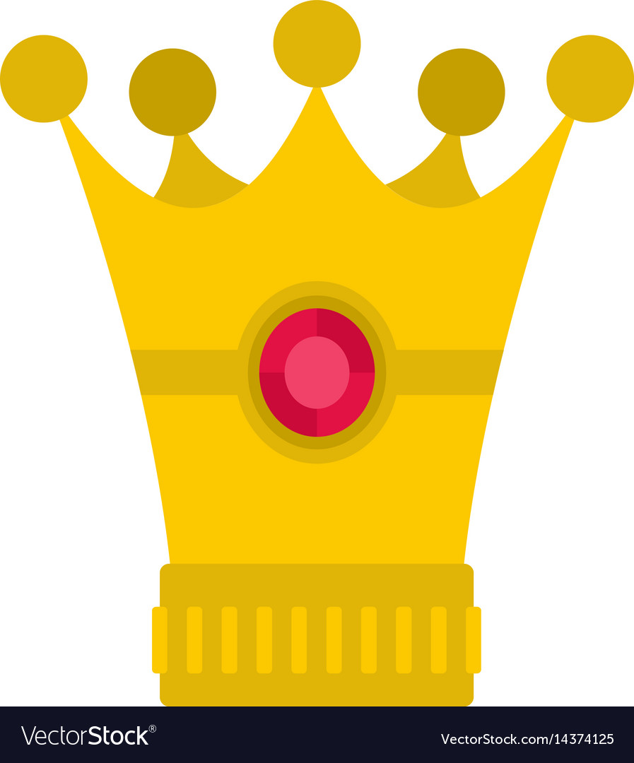 Medieval crown icon isolated