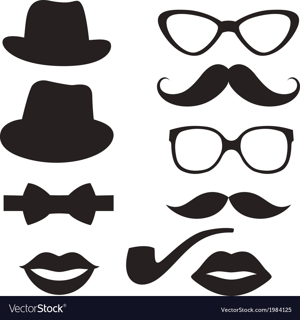 Retro hipster set vector image