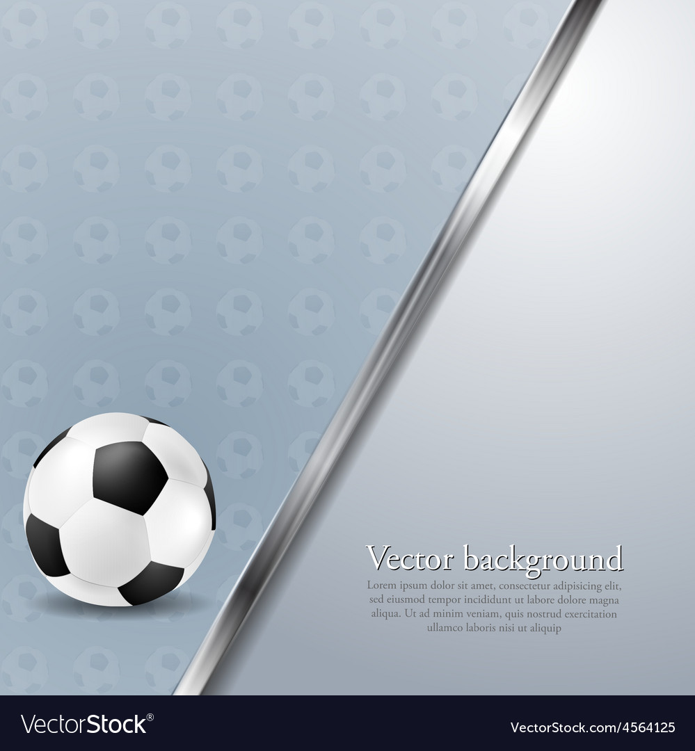 Soccer background with metallic stripe