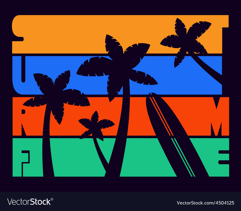 Surf Time T-shirt Typography Graphics
