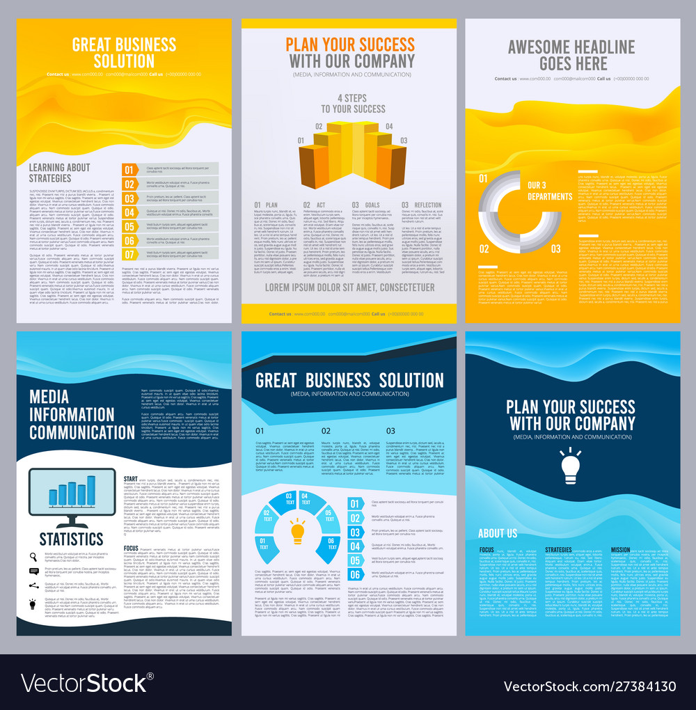 Business flyers corporate brochure booklet pages