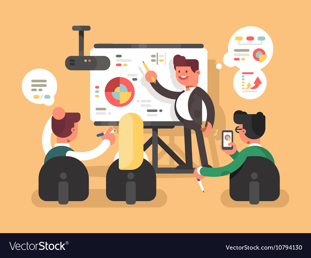 Business report presentation vector image
