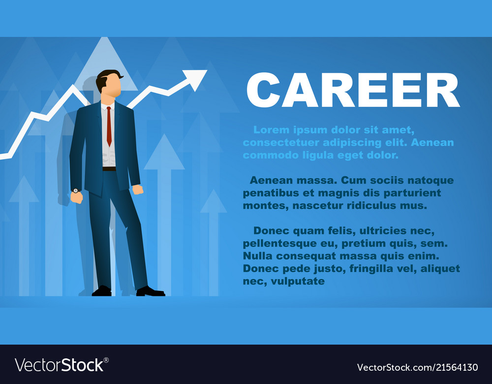 Design a banner on the topic of career
