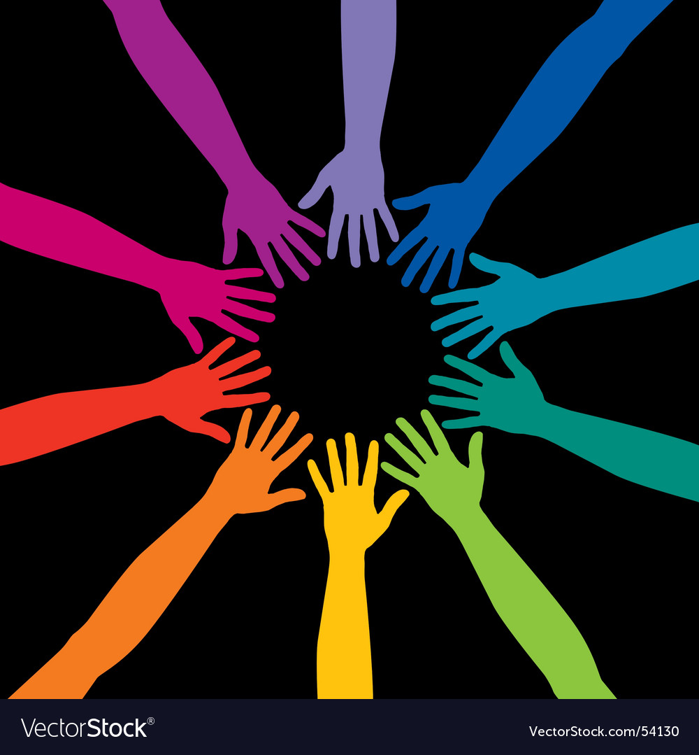Hands circle vector image