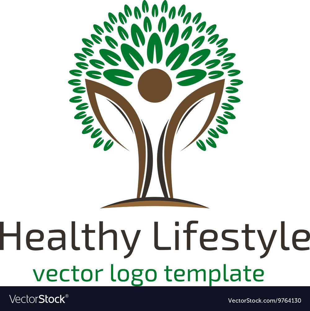 Healthy lifestyle logo