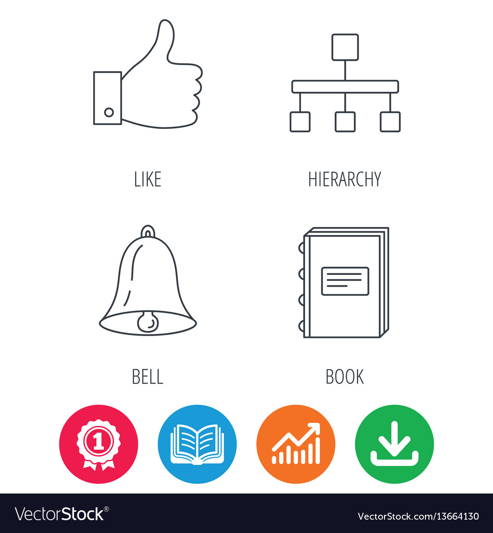 Hierarchy like and bell icons