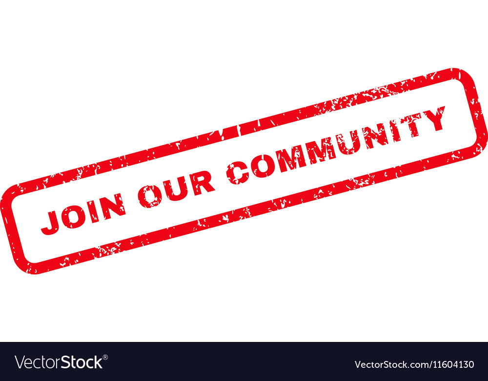 Join Our Community Text Rubber Stamp