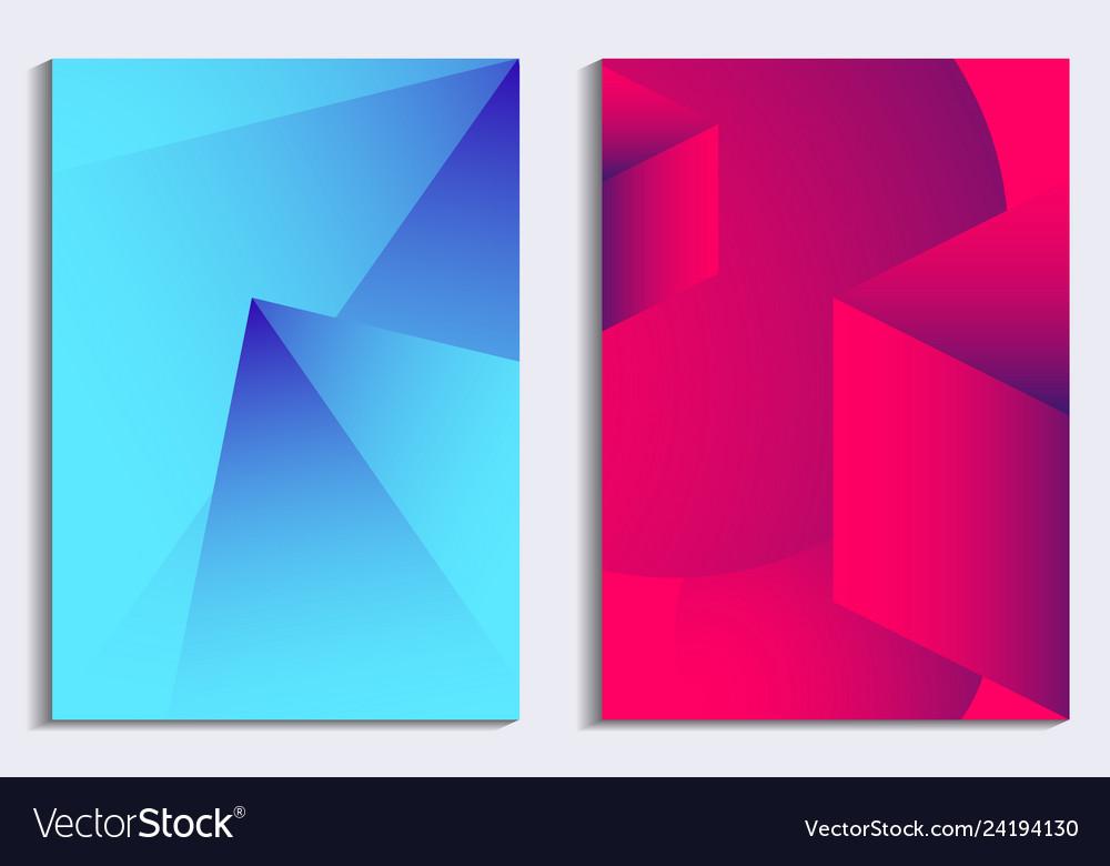 Liquid gradient poster set modern background with