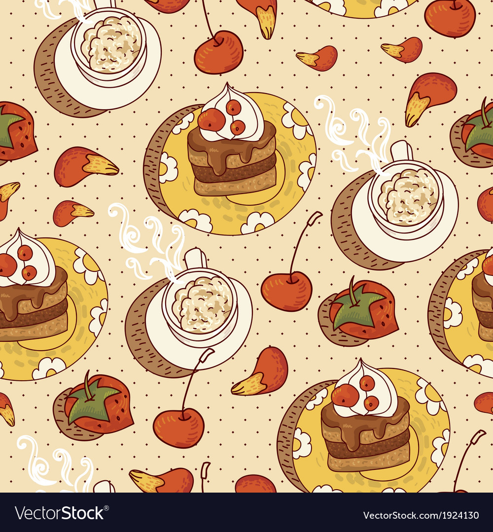 Sweet Time Seamless Background vector image