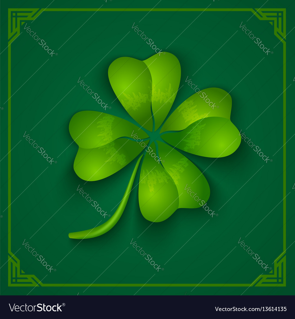 3d clover on green background