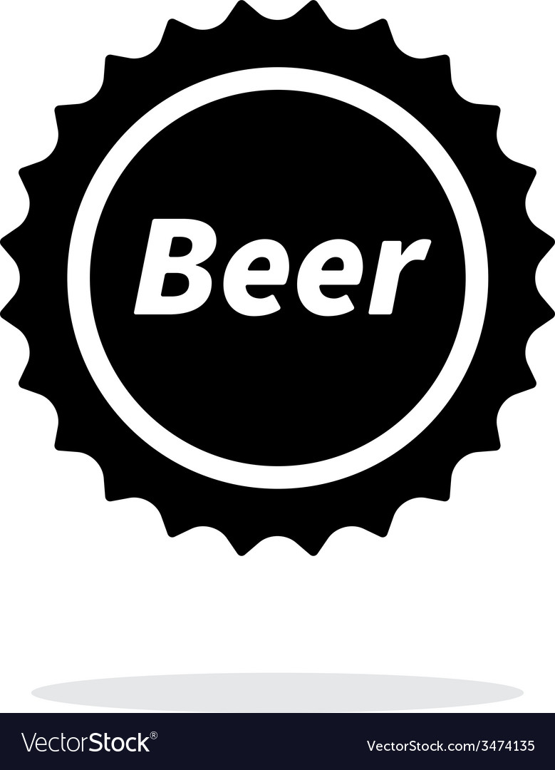 Beer bottle cup simple icon on white background