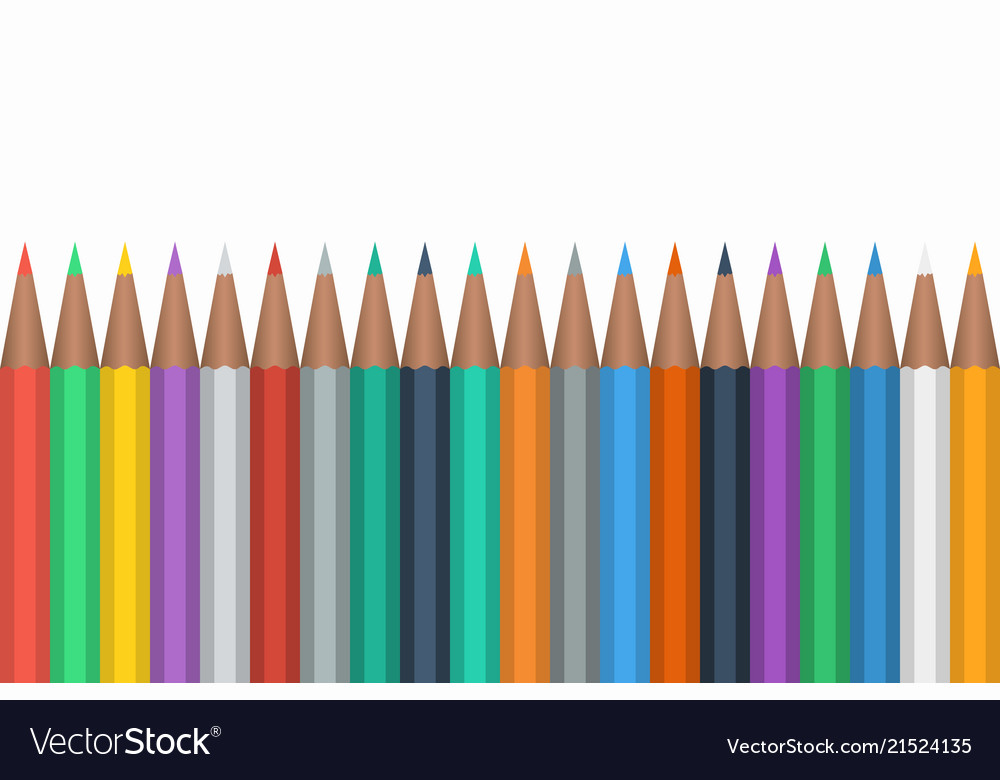 Color pencils isolated on white background close