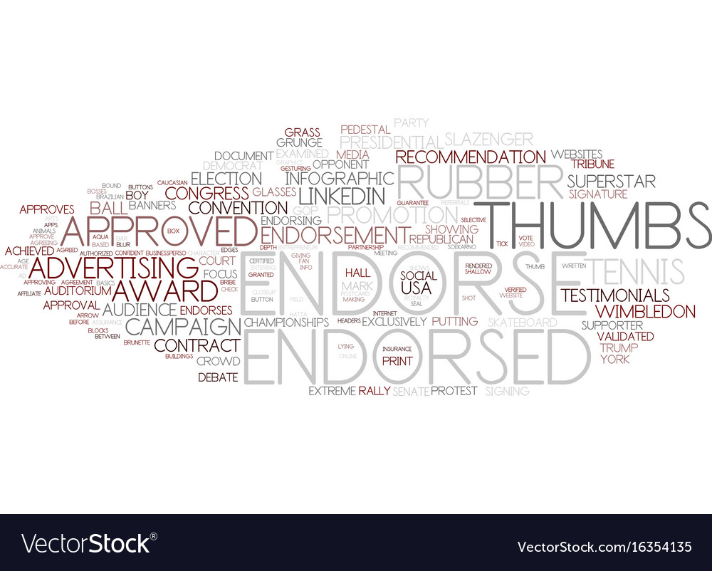 Endorse word cloud concept