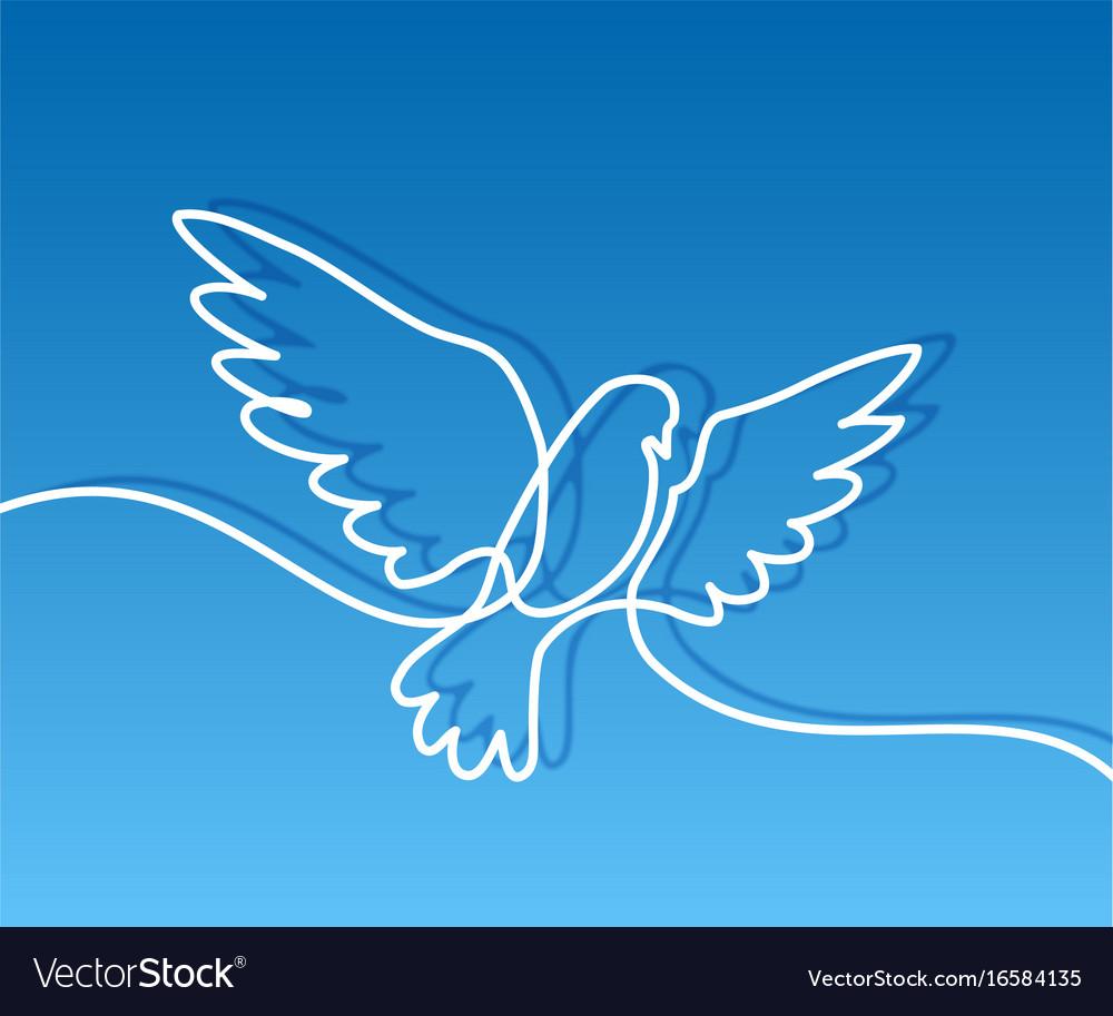 Flying pigeon logo vector image