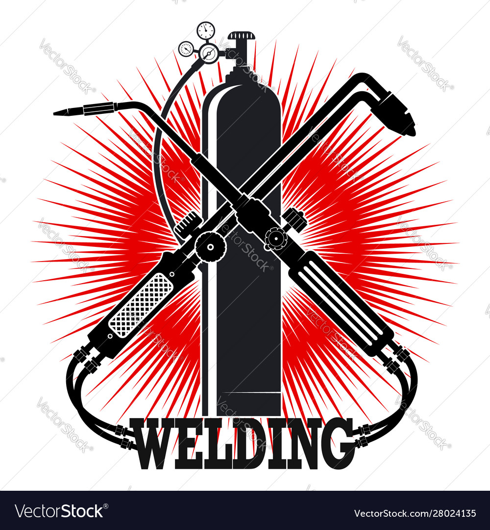 Welding With Tool Symbol Royalty Free Vector Image