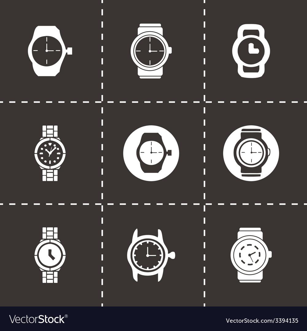 Wristwatch icon set