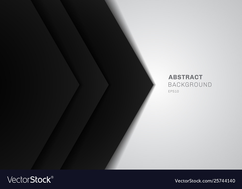 Abstract template 3d black triangle with overlap