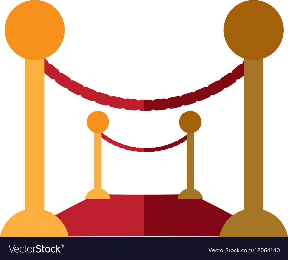 Barrier rope event carpet shadow vector image