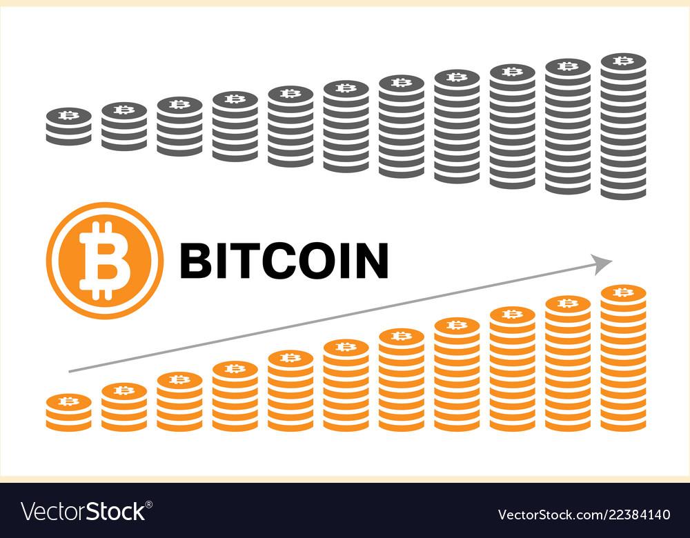 Bitcoin symbol in flat design for internet money