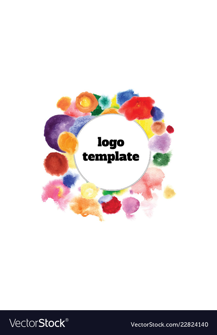 Logo template in the center of colorful circles