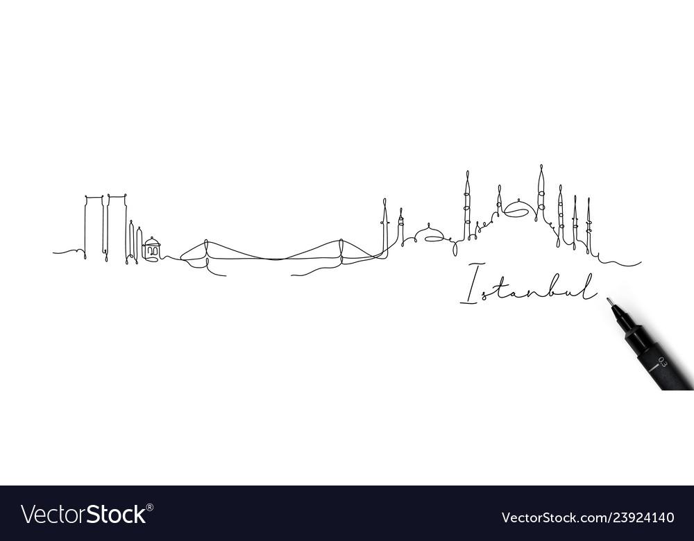 Pen line silhouette istanbul