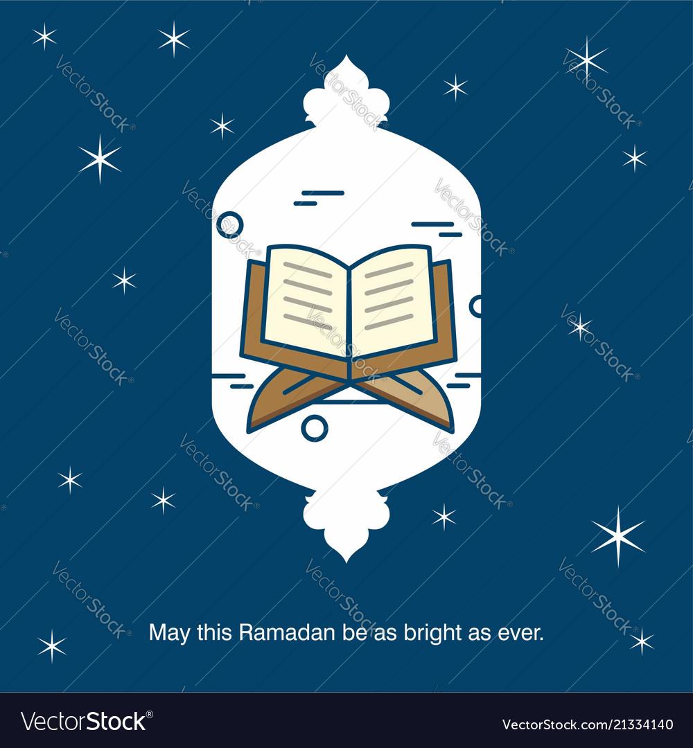 Ramadan Kareem Greetings Card With Unique Design Vector Image