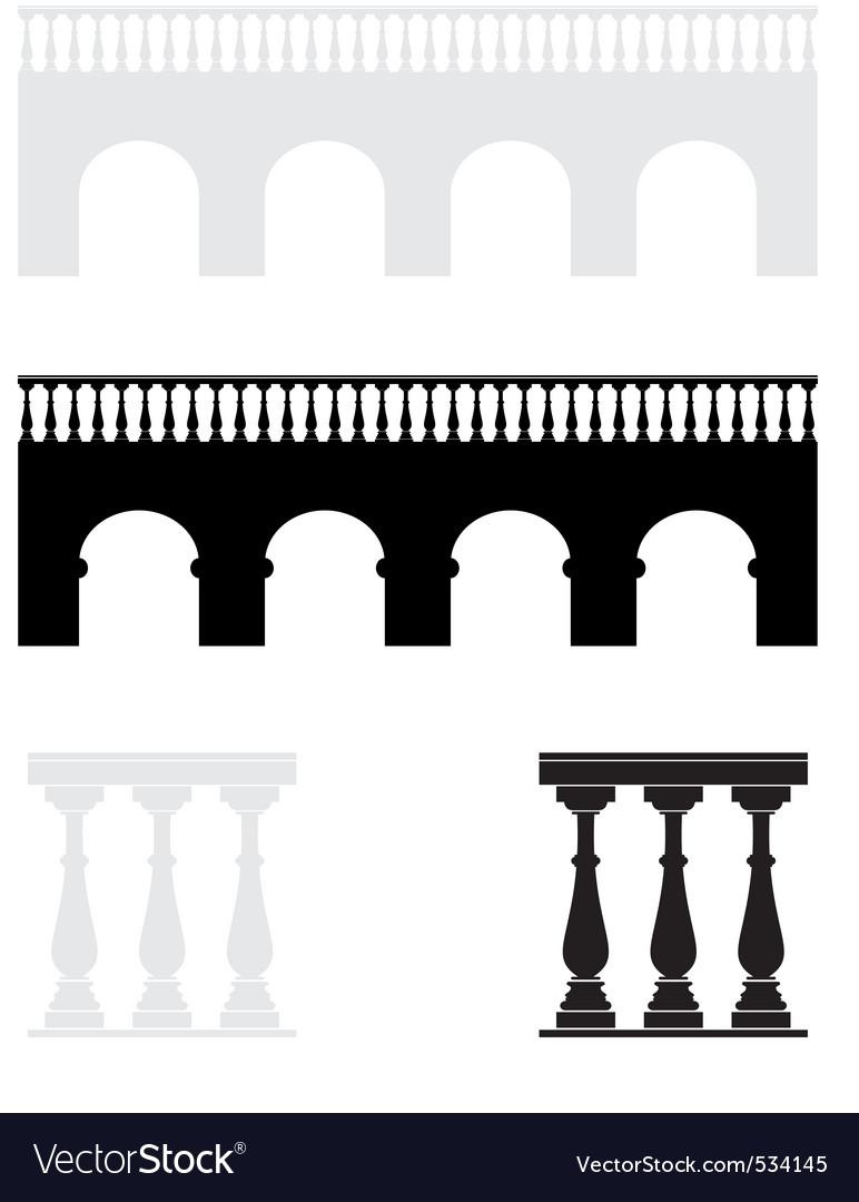 Ancient bridge balustrade