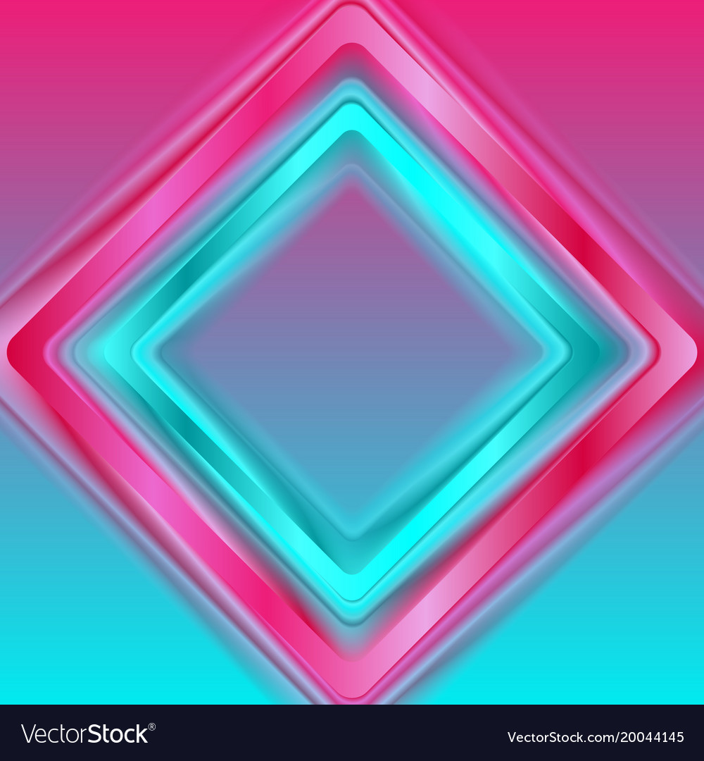 Colorful abstract minimal squares trend background vector image