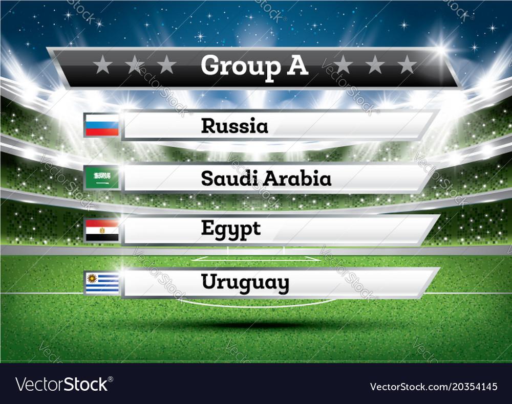 Football championship group a soccer world
