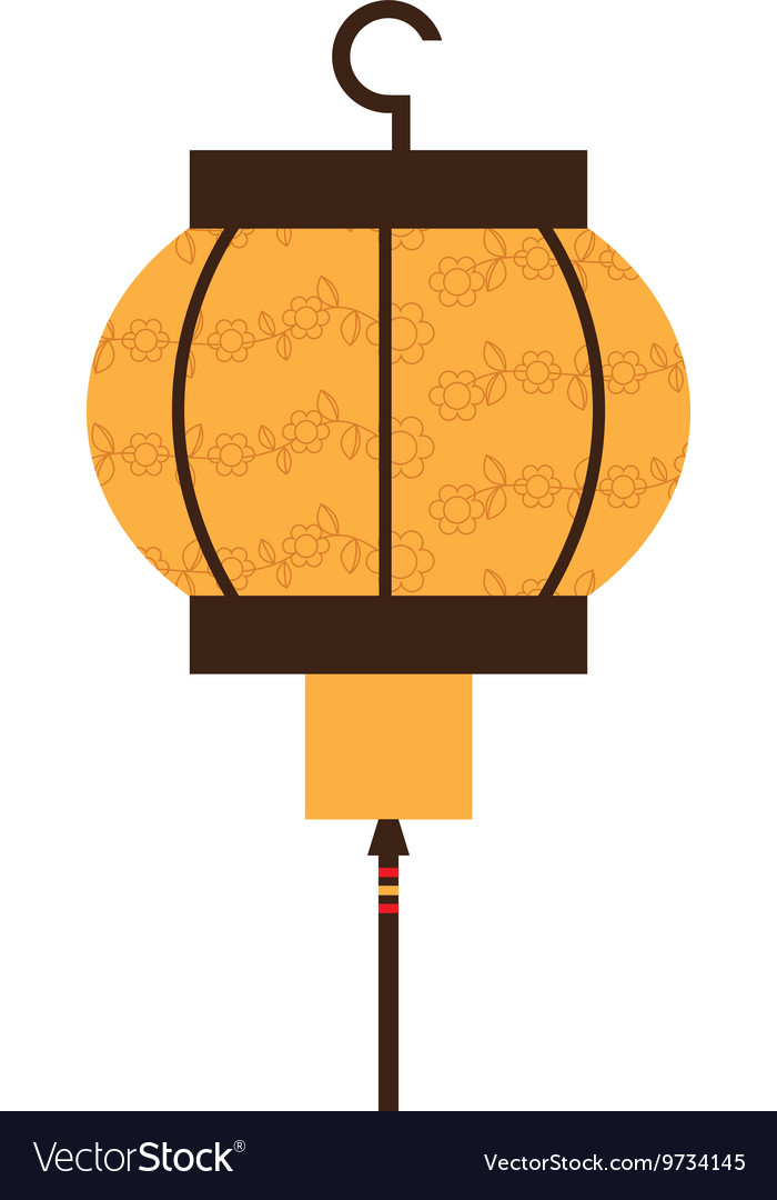 Japanese lamp isolated icon design