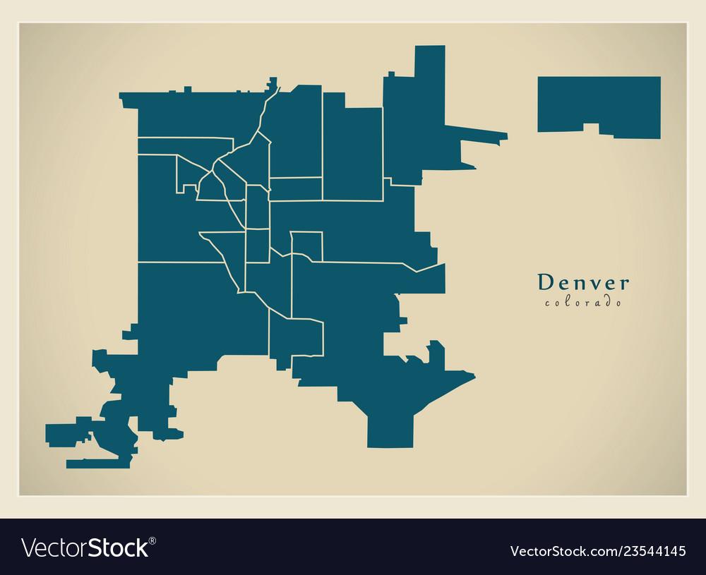 Denver & Map Vector Images (69) on