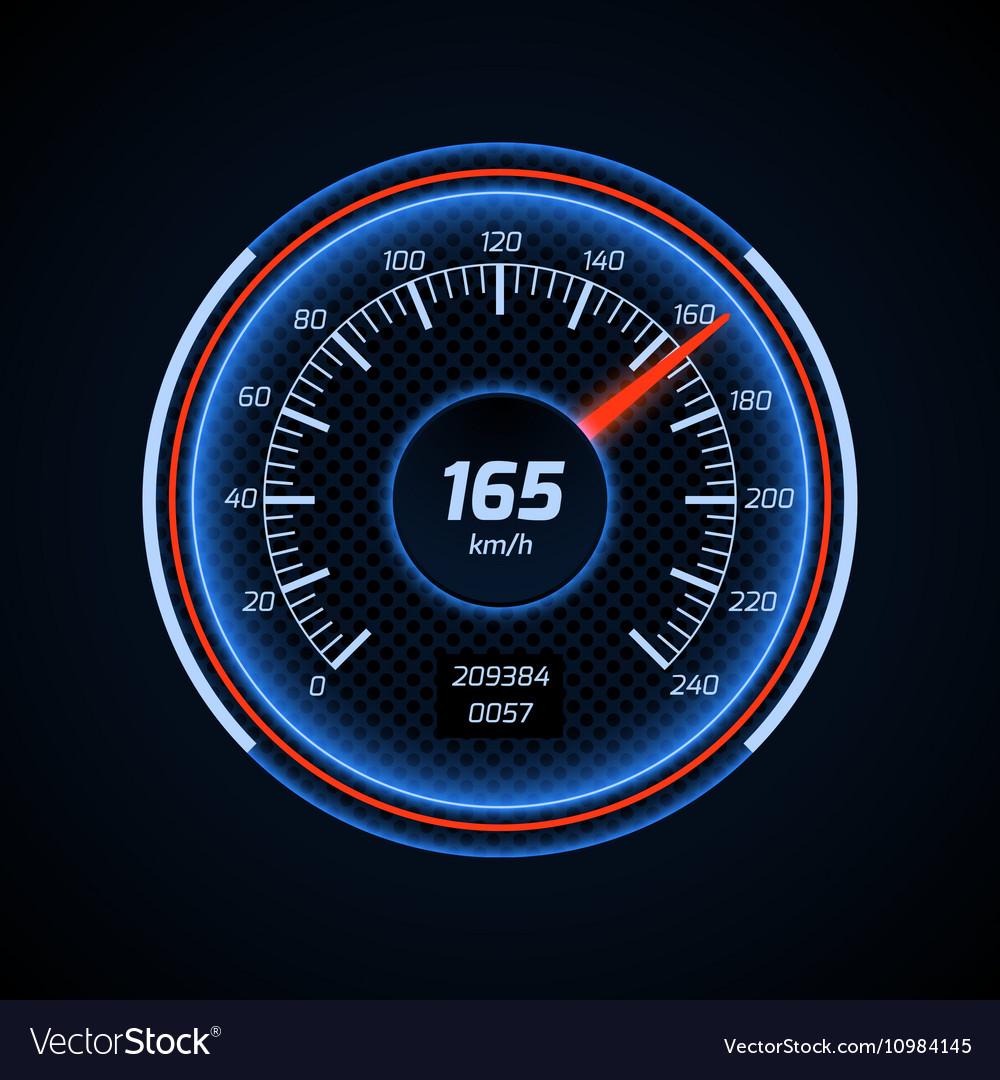 Realistic car speedometer interface