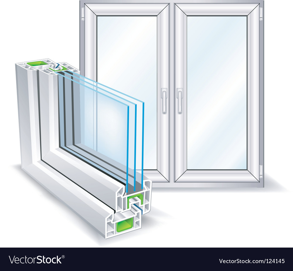 Window profile vector image