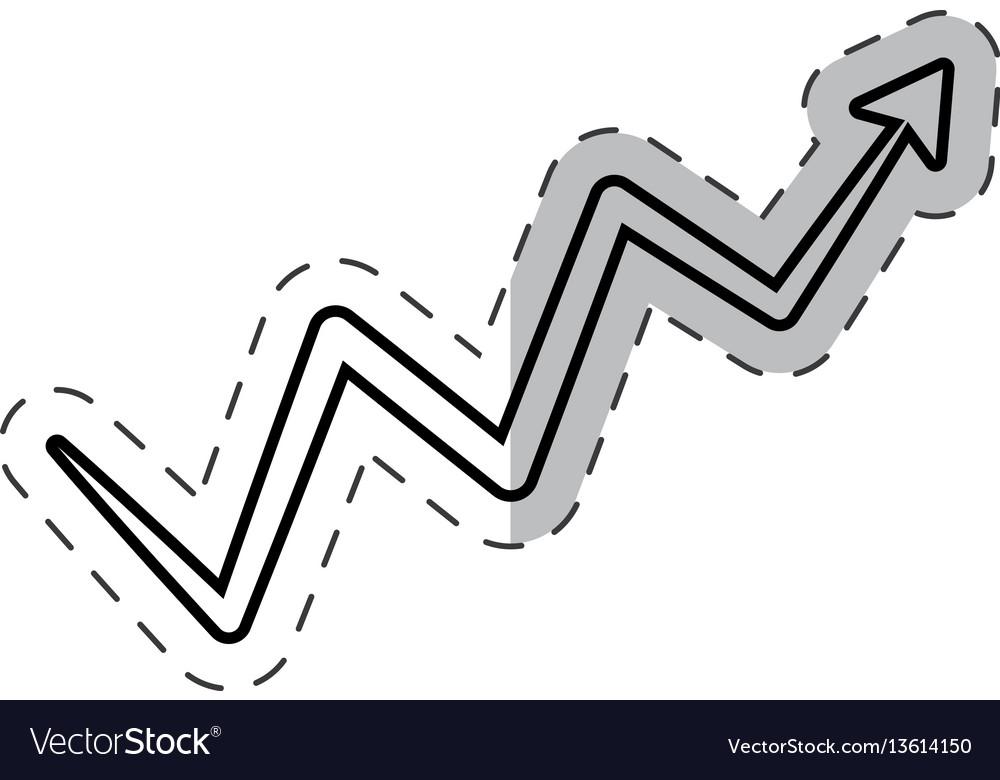 Arrow growing financial icon vector image