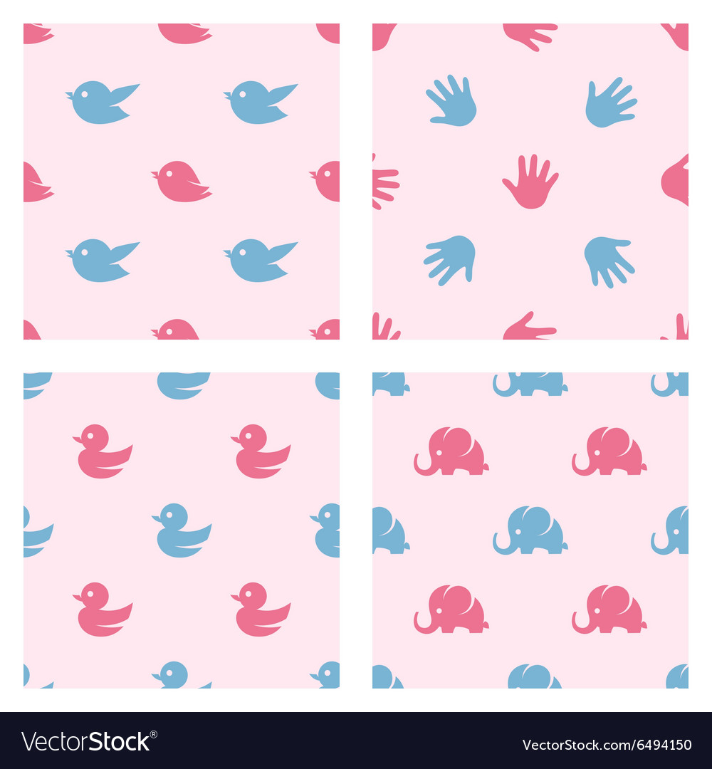 Baby shower related patterns Birds duck